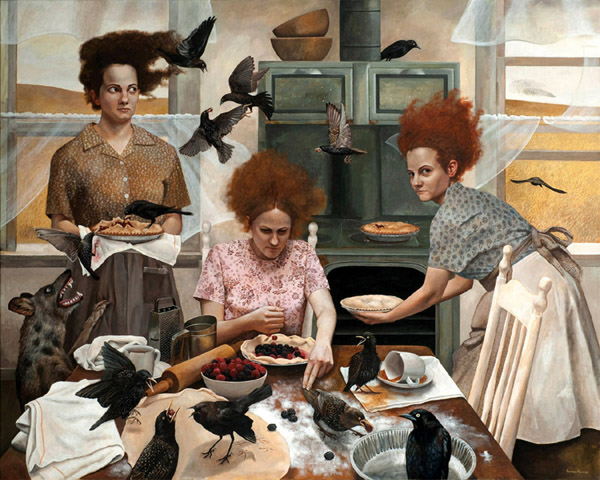 The Visitors   48x60   acrylic-on-canvas   Andrea Kowch