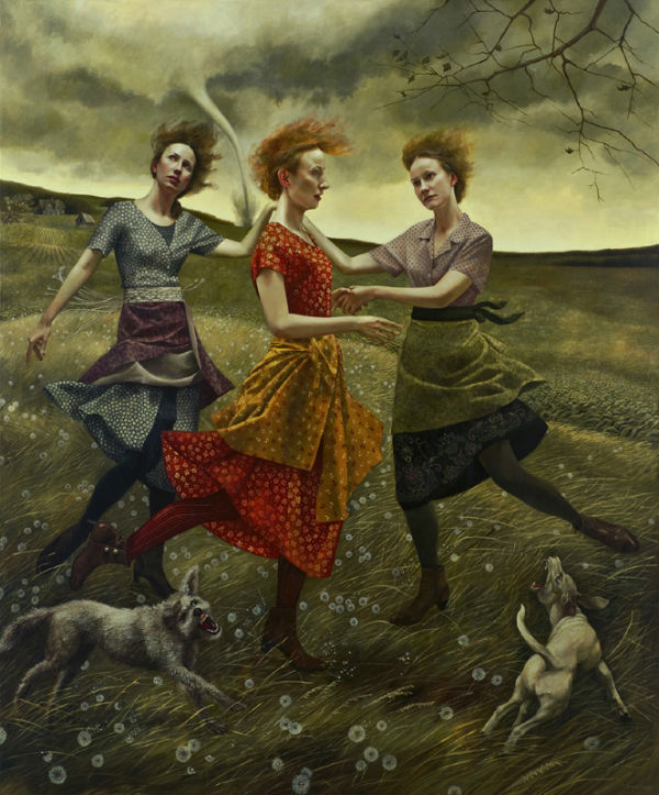 Whirlwind   72x60   acrylic-on-canvas   Andrea Kowch