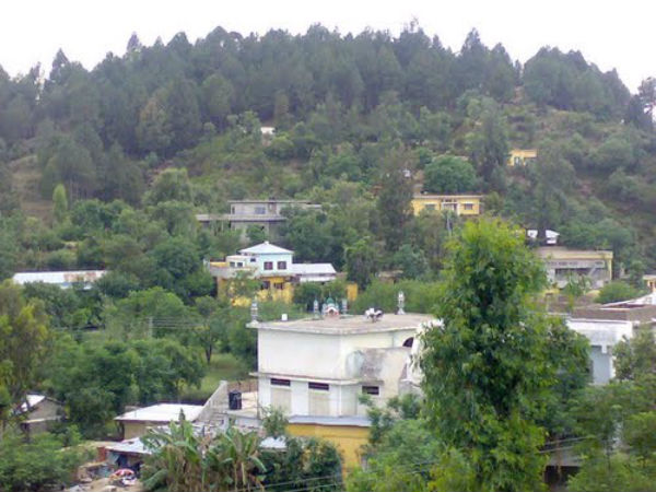 TThe hill village where Omer Khan and his family make their home in Northwest Pakistan.