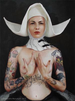"Sine Qua Non | oil on canvas | 18""x24"" | 2012 | Alexandra Manukyan"