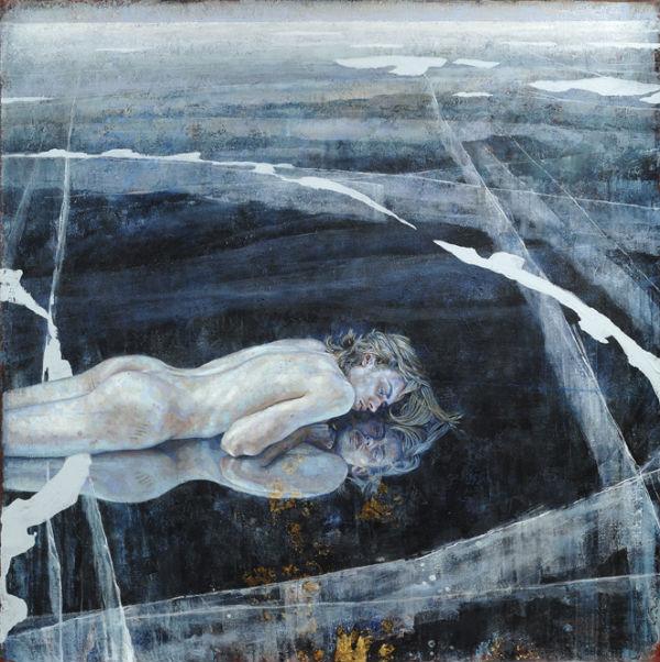 "<em>Brother's Keeper</em> | acrylic on canvas/acrylique sur toile | 152 x 152 cm, 60"" x 60"" | Daniel Barkley | 2012"