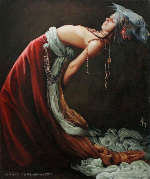 Countess #2 | oil on canvas | 24 x 18 x 2.5 in | Alexandra Manukyan