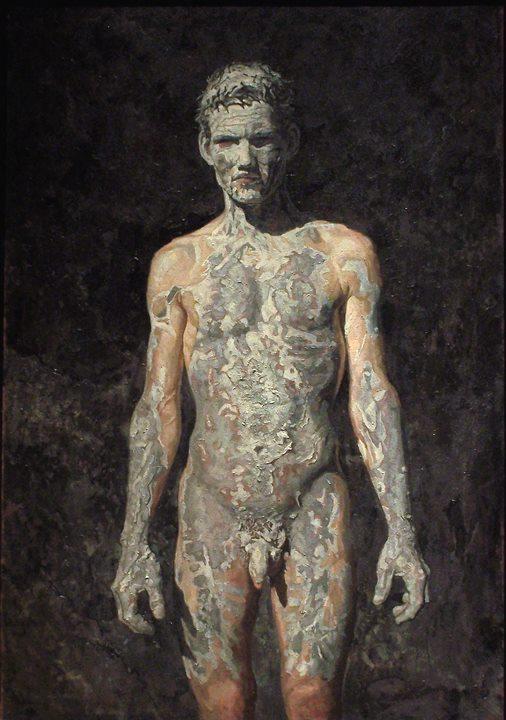 "Robert as Lazarus | acrylic on canvas/acrylique sur toile | 127 x 86 cm, 50"" x 34"" | Daniel Barkley | 2000"