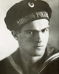 Varna Vaptsarov during his time in the Varna Naval Machinery School