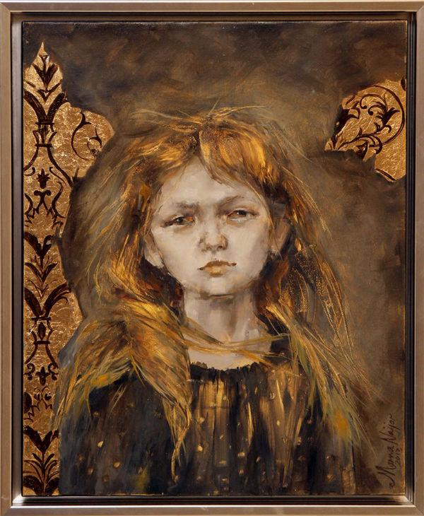 Hope | oil and gold leaf on canvas | 55x45 | Marwa Alnajjar