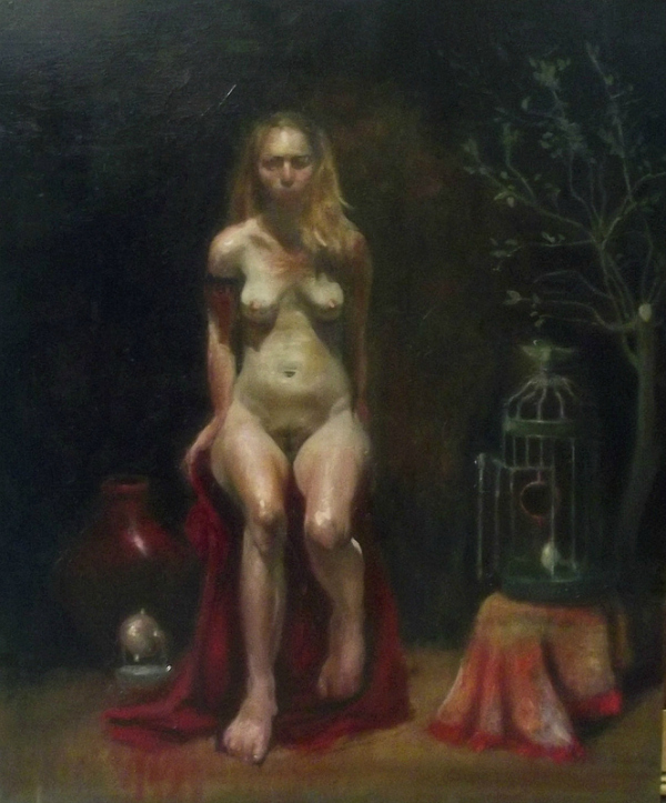 Open Cage   Oil on panel  18×24   Andres Orlowski