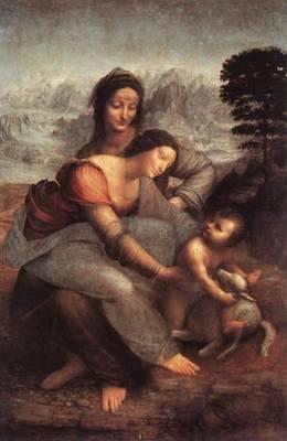 The Virgin and Child with Saint Anne | Oil | 1510 | Leonardo Da Vinci | Musée du Louvre, Paris
