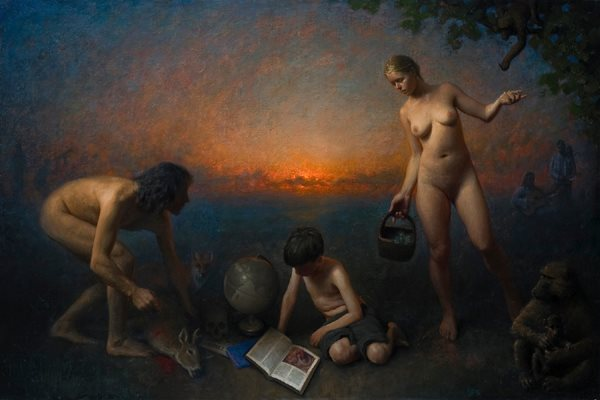 Allegory of Wisdom, Oil on linen, 36x54, 2011