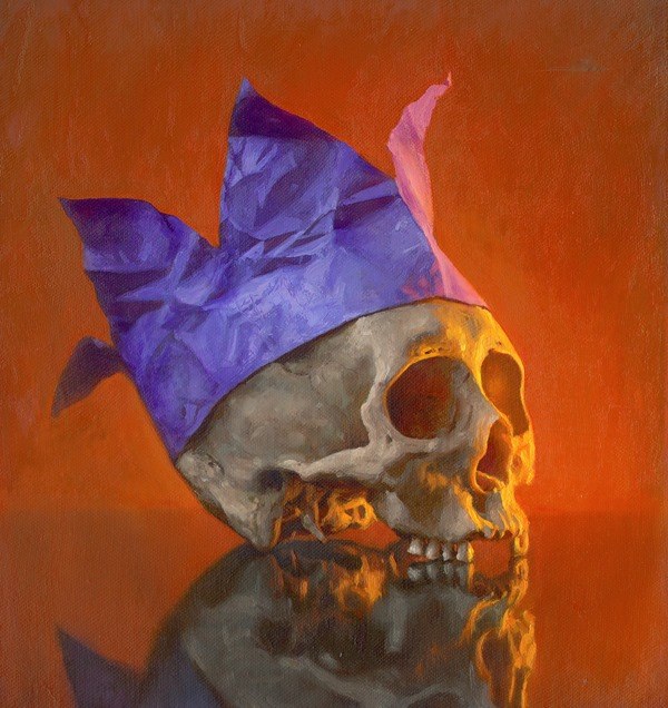 Party Animal, Oil on linen, 12x12, 2010