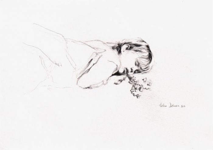 Les Mangeurs de Lotus - II pencil on paper 28x42cm 2012 Helene Delmaire 700.jpg