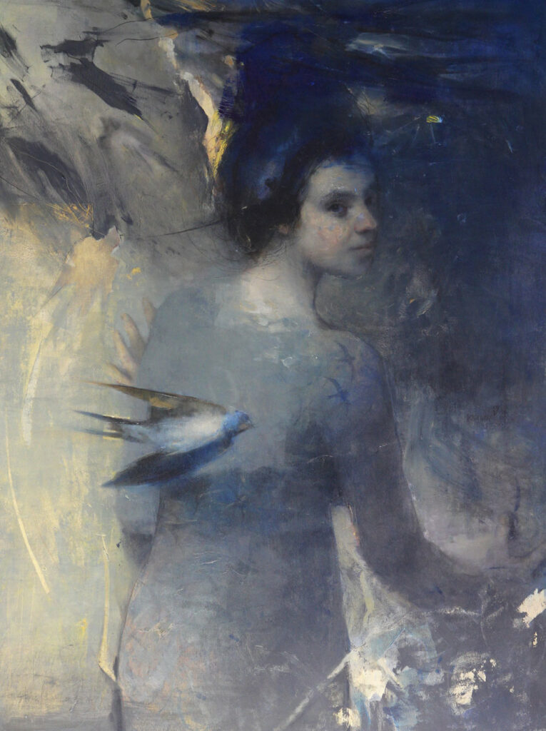 Echoes of a Familiar Time   oil on birch   Stanka Kordic
