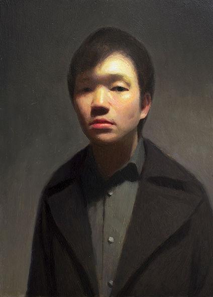Glorified Self II | 2014 | oil on panel | 7 x 5 inches | Keita Morimota