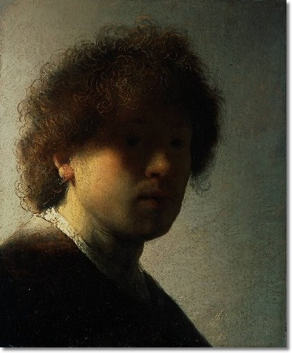 Self-portrait at an early age | 1628 | Rembrandt van Rijn