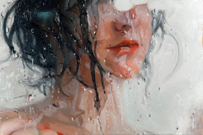 Blind (Detail) | 8x12 | oil on panel | Alyssa Monks