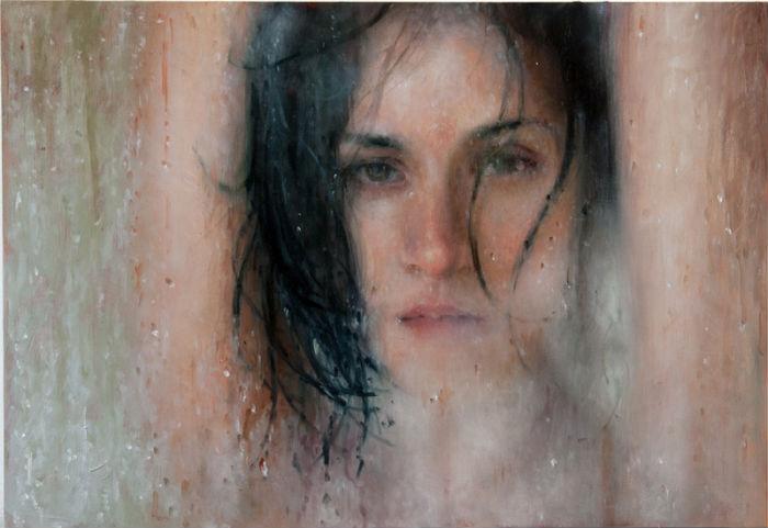 Emptying | oil on panel | 10x16 | 2014 | Alyssa Monks