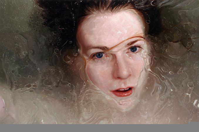 Stare | oil on linen | 64x96 | Alyssa Monks