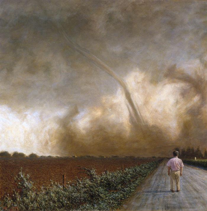 Indecision 36 x 36 oil on canvas 1994 700 John Brosio