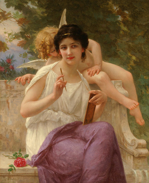 L'Inspiration, by Guillaume Seignac (1870-1924)