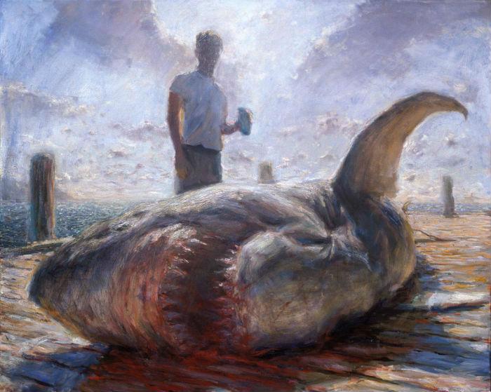 Two Earthlings 48 x 60 oil on canvas 1998  700 John Brosio