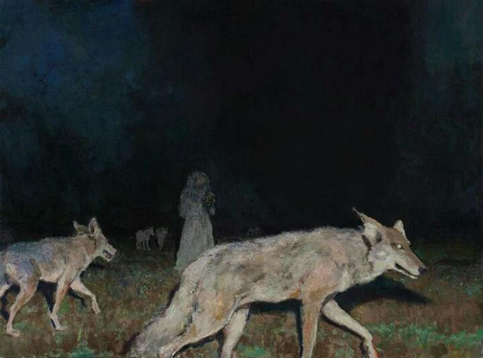 Night Hunt, 27.5 x 36, oil on canvas, 2012