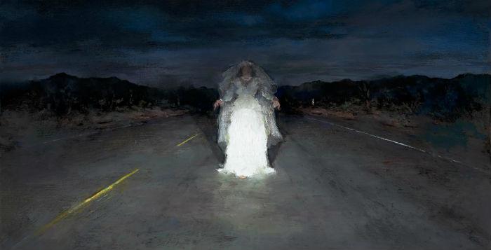 Bride in Headlights | 12 x 18 | oil on canvas | John Brosio