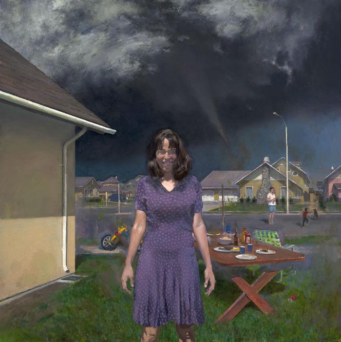 Queen of Suburbia | 48 x 48 | oil on canvas | 2012 | John Brosio