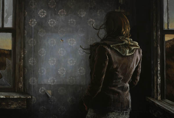 These Memories, too are Bound to Die | 32 x 48 inches | Acrylic on Wood | 2014 | Mary Chiaramonte