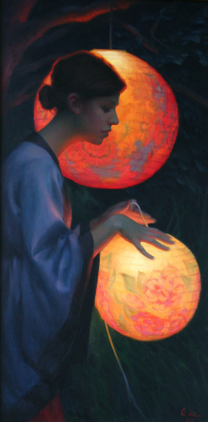 Chinese Lanterns | oil on canvas | Private Collection | Adrienne Stein