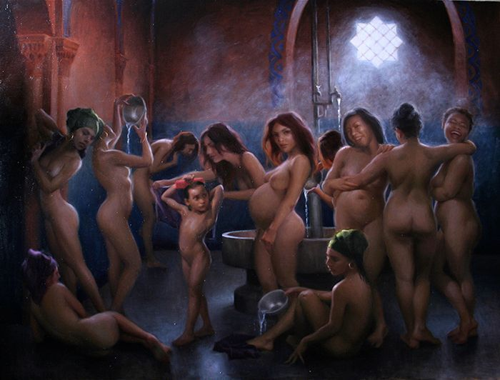 "Moroccan Bathers | 36"" x 48"" 