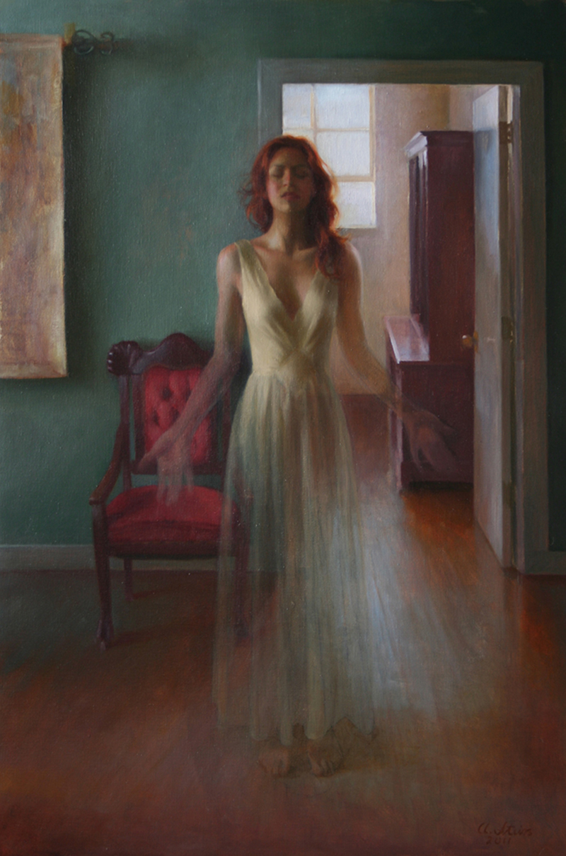 "Self-portrait, disappearing | 36"" x 24"" 
