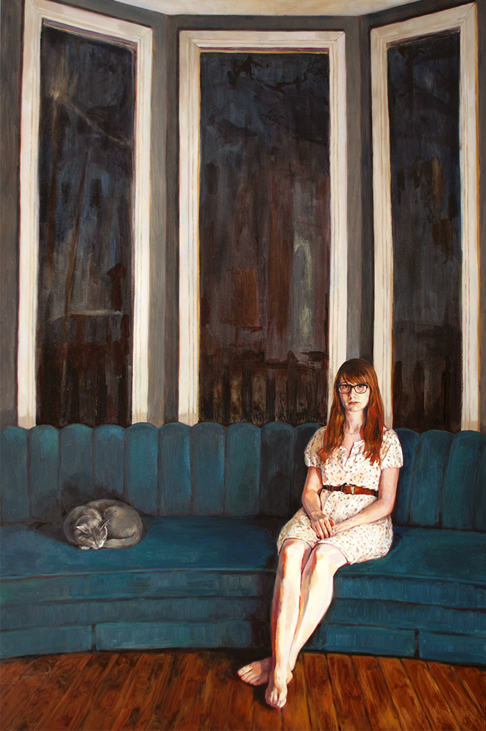 At Night Hollie | Oil-on-canvas | 60 x 40 | Christina Sealey | 2017