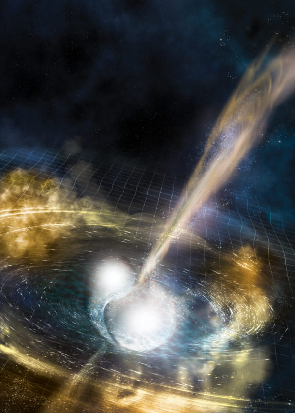 Artist's rendering of a gamma ray burst.