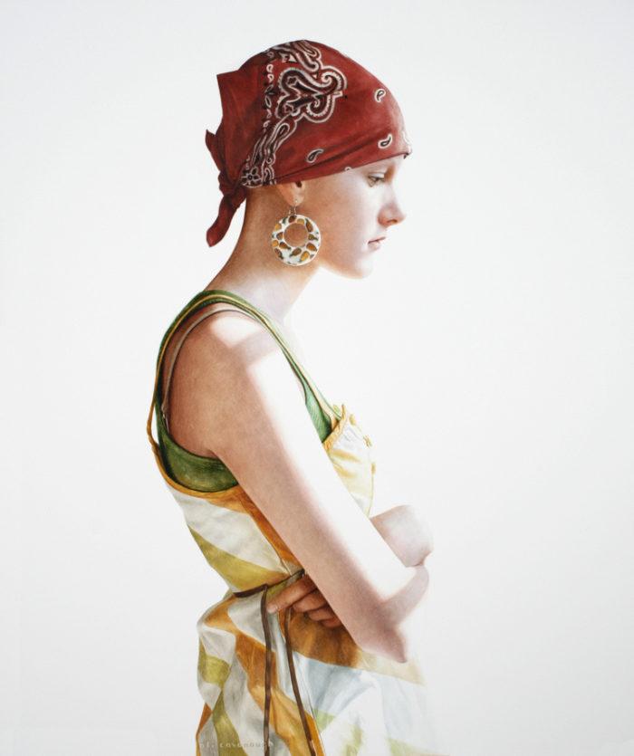 Girl With Pineapple Earring | Ali Cavanaugh