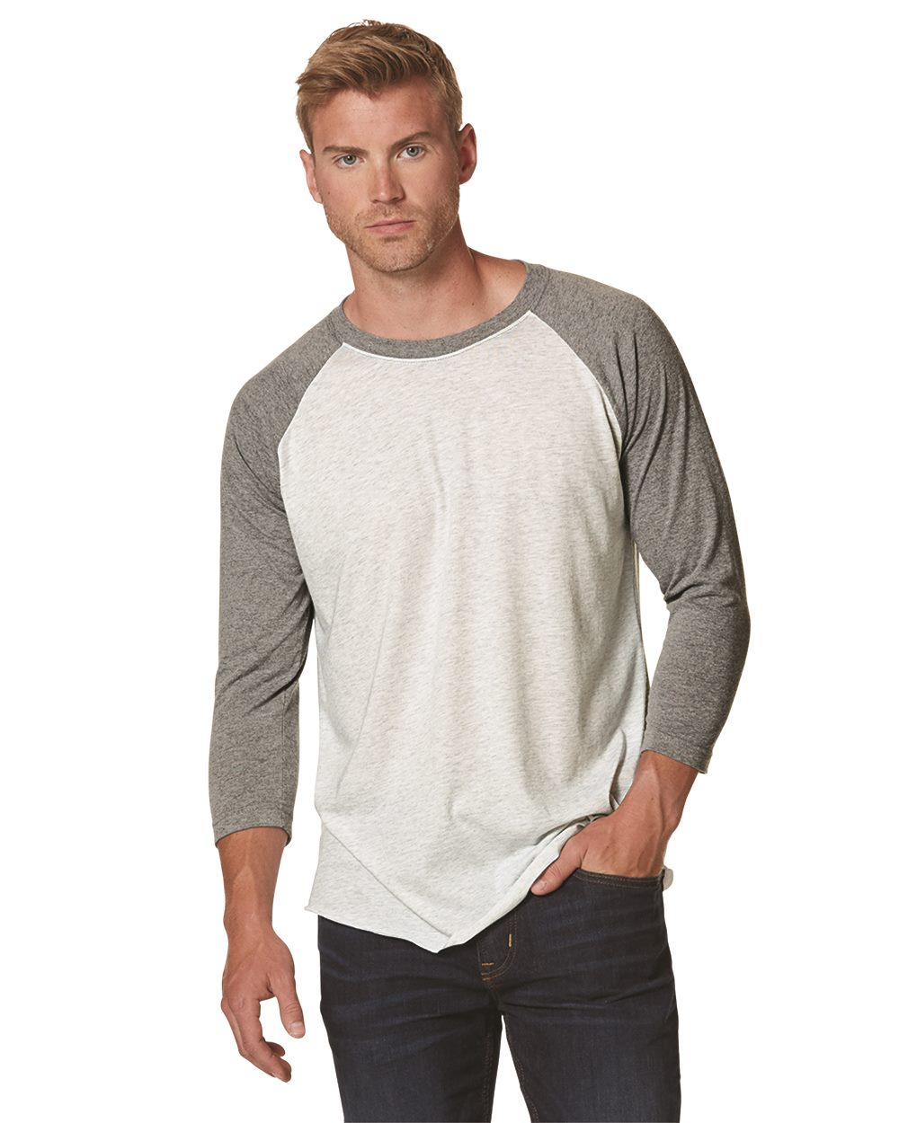 Next Level Tri-blend Baseball Raglan 6051