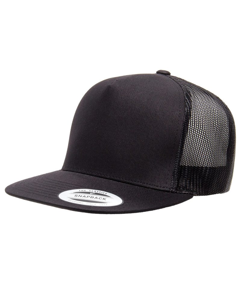 Yupoong 5 Panel Flat Bill Trucker – 6006