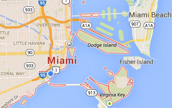 Map of Miami