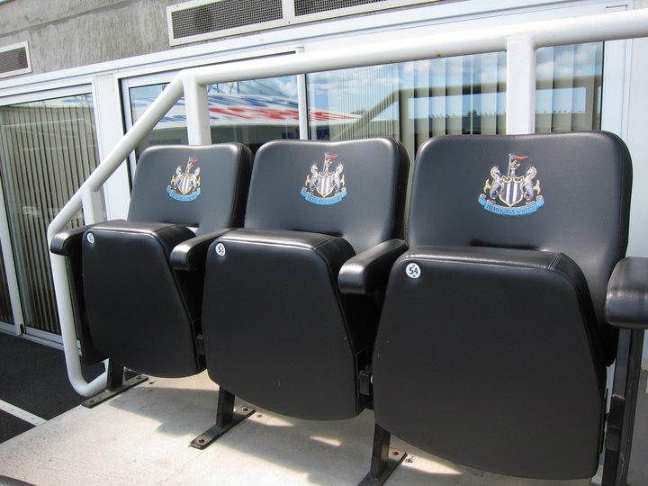 Box seats at St JJames' Park, Newcastle