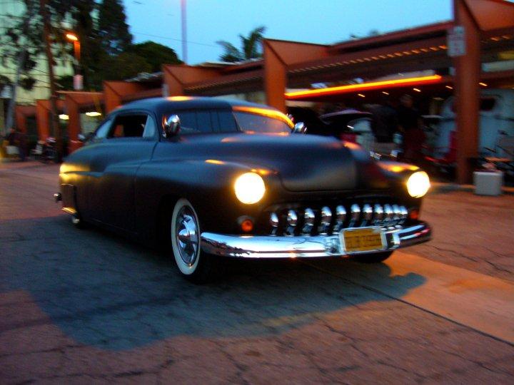 1949 Mercury at a car meeting in Burbank