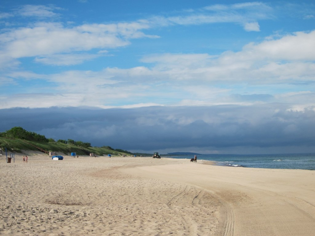 The Baltic sea, just 20 minutes from the lagoon side.