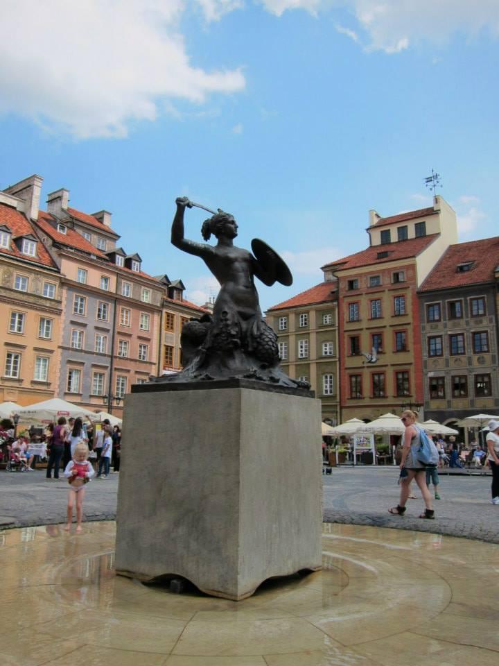 Mermaid in Warsaw old town