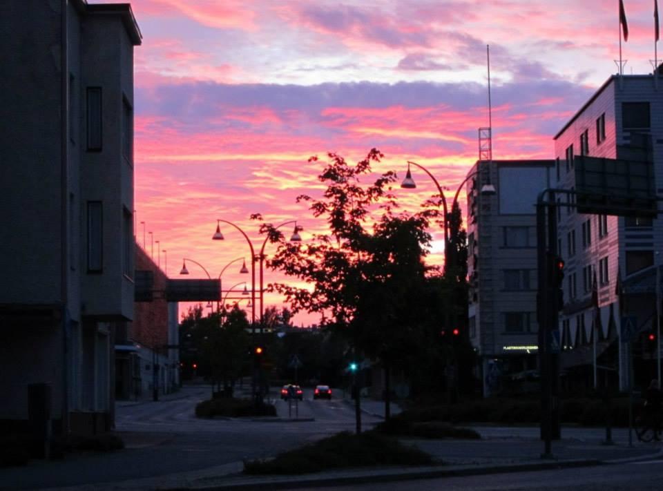An unexpectedly beautiful sunset in Jyväskylä