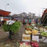 Photographs of Long Bien Market at Daybreak