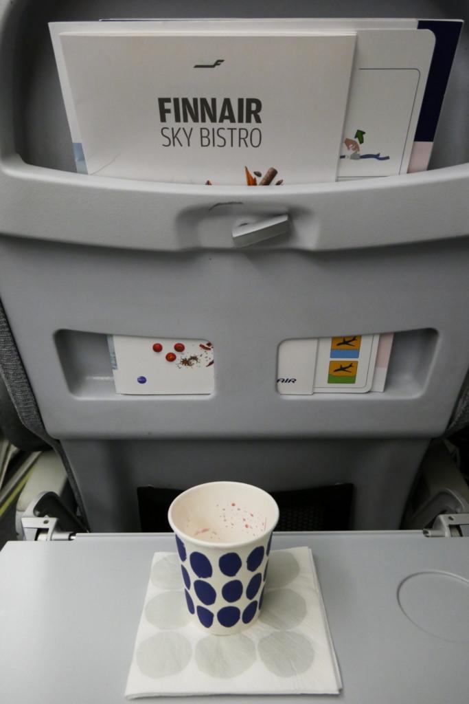 Finnair A320 seat