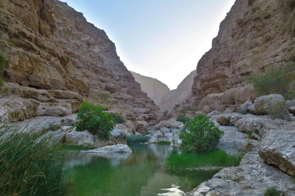 Wadi Shab is a place you can visit in Oman on a budget