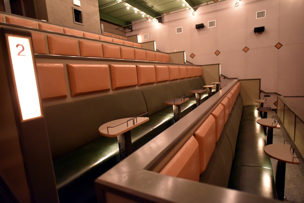 Syndicated Row 2 in theater