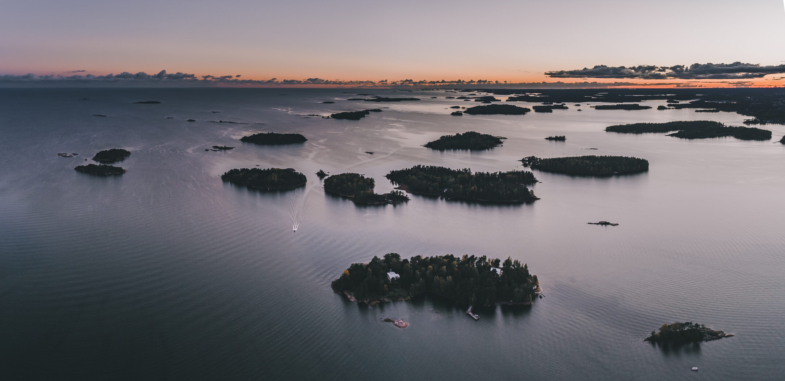 Image of the Finnish Archipelago, setting for The Tsarina's Lost Treasure.