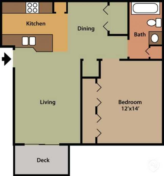 Pinewood Apartments: 1 Bedroom