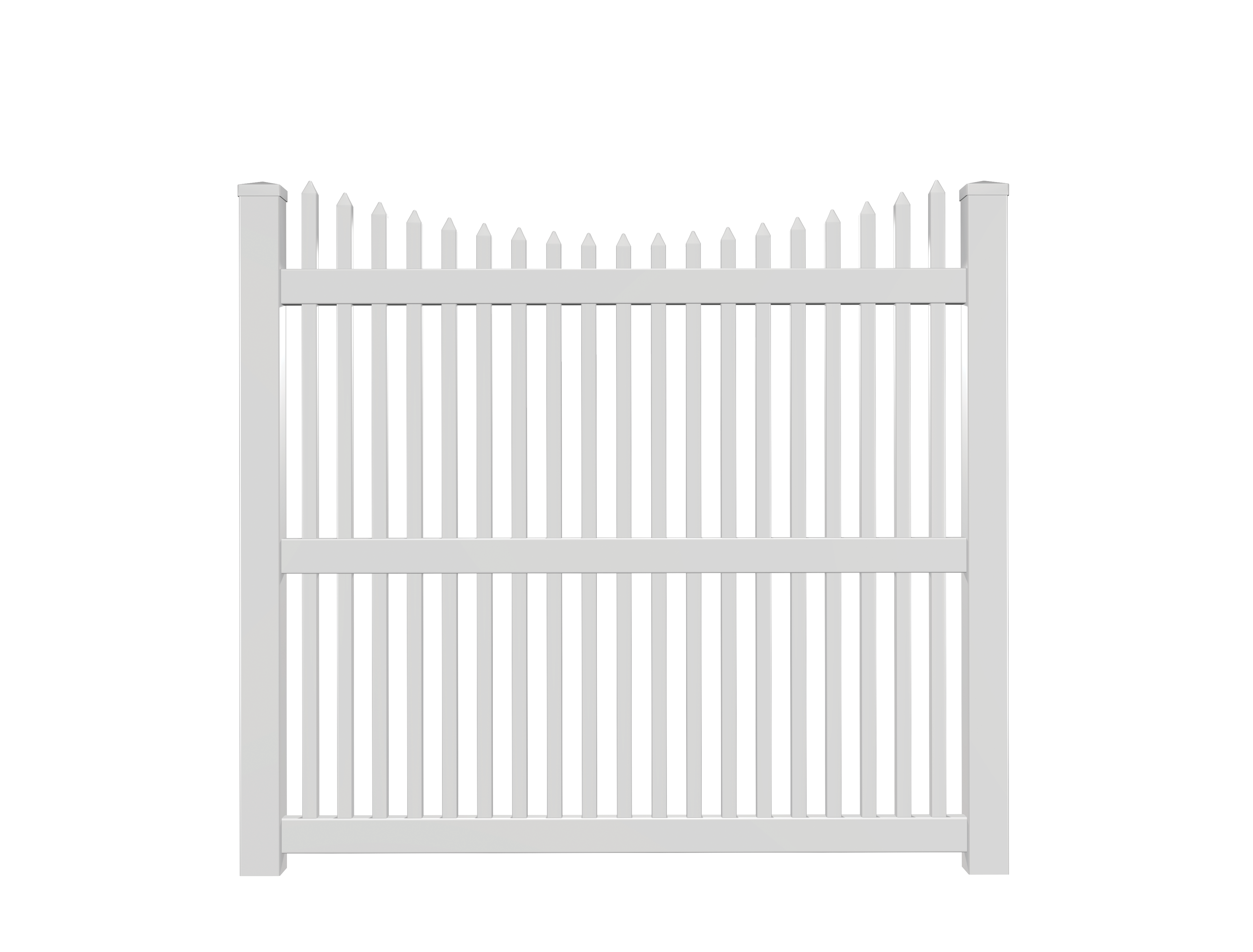 Concave Picket Fence