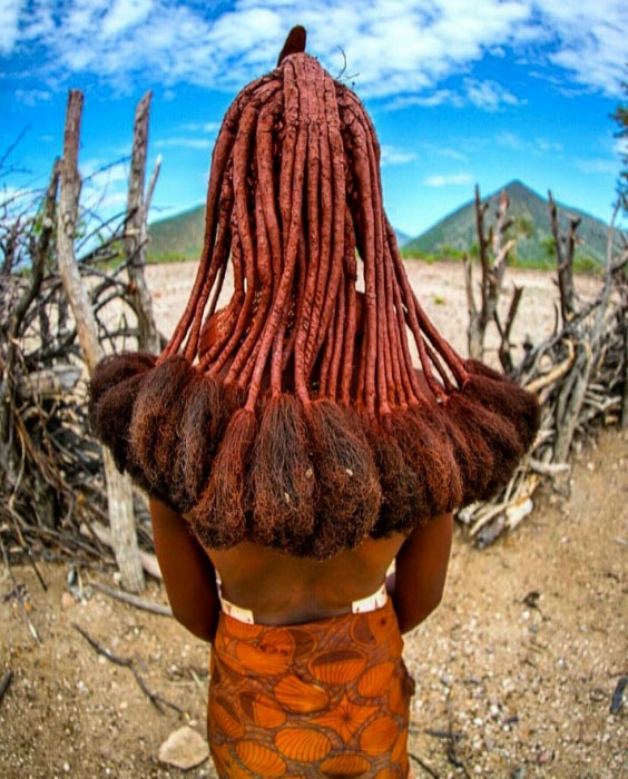 Himba tribe hairstyle