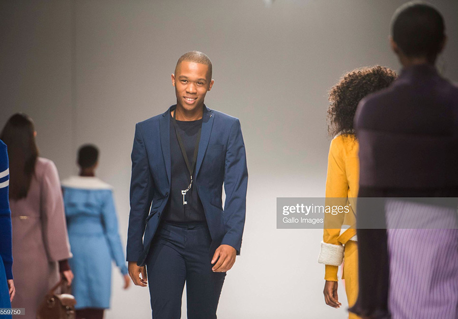 THEBE MAGUGU during day 1 of South African Fashion Week (SAFW) Autumn and Winter 2018 Collections at the Sandton City Rooftop on October 24, 2017 in Johannesburg, South Africa.